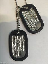 Personalized DOG TAGS with Chains and Rubber Covers Military Grade USA US DEBOSS