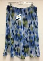 ANNE KLEIN WOMEN PRINTED CHIFFON SKIRT SIZE XL
