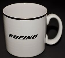 White Boeing Coffee Mug Aviation Manufacturer Aerospace Airplane 22K Gold Trim
