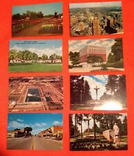 8 Michigan Post Cards Detroit. Gaylord. Indian River. GM Technical Center Tuller