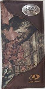 ZEP-PRO  Mississippi State Bulldogs Leather & Nylon MOSSY OAK Camo WALLET NO BOX