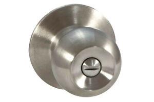30x Knob lock sets round -privacy - snib inside stainless steel