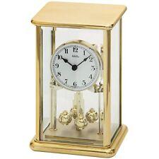 NEU AMS Designer Tischuhr Pendel gold Schreibtisch Büro Wohnzimmer Kamin Uhr