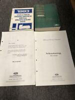 1993 FORD MUSTANG Service Shop Repair Manual Set W Fold Out Wiring Diagram OEM +