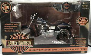 Ertl Racing Champions Harley Davidson 1:10 2003 Dyna Super Glide Sport
