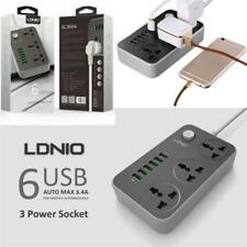 UK Plug Power Extension 2m Cable with 6 USB Universal Socket / Surge Protection