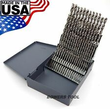 Norseman 60 pc HI-Moly M7 NUMBER Wire Gauge Drill Bit Set w Index #1-60 USA J-60