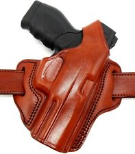 TAGUA BH1 Right Hand Brown Leather OWB Thumb Break Belt Holster - CHOOSE GUN