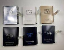 6 Piece Armani Acqua Di Gio & Armani Code Men's Sample Lot