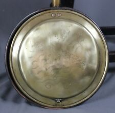 Early 19th Century Georgian Brass and Copper Warming Pan