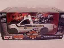 Police 1999 Ford F-350 Super Duty Truck Diecast 1:27 Harley Davidson 8 inch 1/24