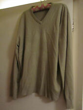 Mens M&S Beige Thin Acrylic V Neck Jumper in Size XL