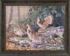"""DEEP TIMBER GROUSE"" by Scott Zoellick 23x29 FRAMED PRINT S/N L/E Males Courting"
