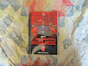 2019-20 ST JOHN'S RED STORM BASKETBALL MEDIA GUIDE Yearbook 2020 Program AD
