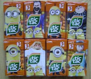 2017 TIC TAC 8 x 49g EUROPEAN SET MINIONS BANANA TANGERINE LIMITED EDITION