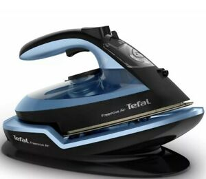 TEFAL Freemove Air FV6551 Cordless Steam Iron Ceramic Black & Blue - New