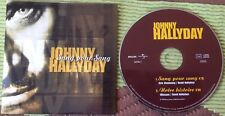JOHNNY HALLYDAY CD DEUX TITRES  ETAT NEUF . SANG POUR SANG .