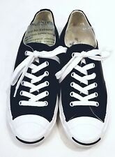 14bd8fc3a2e Converse Jack Purcell OX Mens  Wome s Casual Low Top Shoe Black Leather  1S962