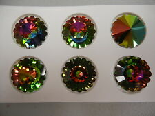 1 swarovski vintage crystal flower pendant(top drilled)27mm vitrail medium #6701
