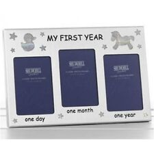 My First Year Baby Photo Frame 3 Spaces For Picture Present New Baby Gift 50052