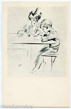 ARTIST SIGNED. PAUL CéSAR HELLEU. LA FEMME ET SON ENFANT. WOMAN AND CHILD