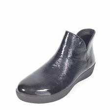 FitFlop Supermod Women's Size 5 M Black Patent Leather Ankle Boots C68-001.