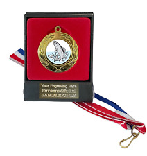 Trout Fishing 40mm Emperor Sports Medal (A) Boxed + Ribbon ENGRAVED FREE