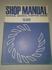 Honda G35 Shop Manual