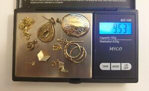 9CT 375 SOLID SCRAP GOLD 9.5 GRAMS HALLMARKED