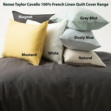Renee Taylor Cavallo 100% French Linen Quilt Cover set- 9-Colours