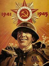 Propaganda Segunda Guerra Mundial Ejército Rojo Victoria Soviética Urss comunismo rojo cartel impresión bb2816a