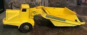 "1950 MARX Lumar Pressed Steel Scraper Toy Construction Truck 19"""