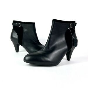 Love Leather George Black Heeled Ankle Boots Size 6 Real Leather Upper BRAND NEW