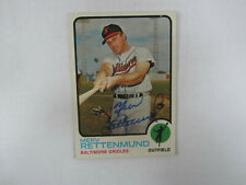 1973 Topps # 56 Merv Rettenmund Autograph / Signed Card Baltimore Orioles (M)
