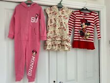 Girls clothes bundle 3-5 years Disney Minnie Mouse Stitch romper towel dress top