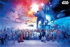 Star Wars Universe Poster mehrfarbig
