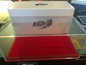 1/18 SCALE BBR RE-COVERED DISPLAY CASE- BASE & COVER -RED ALCANTARA-VET1804A1
