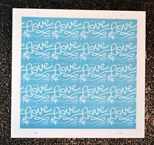 2017USA #5155 Forever Love Skywriting  Sheet of 20 Mint blue wedding invitations