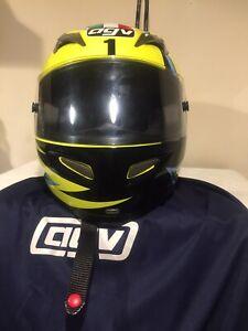 Very Rare Agv Ti Tech Rossi Helmet Ltd Edition Size L
