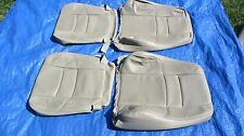 99-00 Volvo S70 V70 XC70 Beige Driver & Passenger Leather Seat Cover Set Of 4