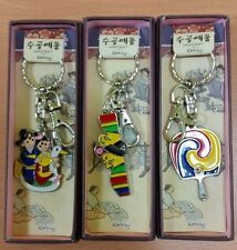 Key Ring Chain Holder Korean Traditional Design Handicraft Korea Souvenir 3 Pcs