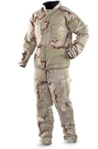 "US Surplus USGI NBC MOPP Hazmat Chemical SUIT Military Desert Size XL Waist 42""+"