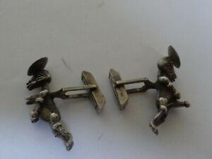 Very Fine Vintage  Sterling Silver Erotic Cufflinks