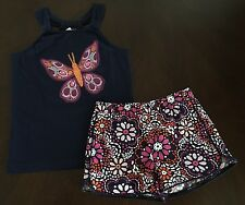NWT Gymboree Outlet Girl Spice Market Navy Butterfly Top & Floral Shorts 5/5T