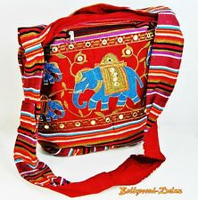Damen Tasche Stofftasche Schultertaschen Goa Boho Elefant Handarbeit Bunt