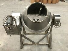 "36"" dia stainless steel heavy-duty abrasive/food mixer/coating pan"