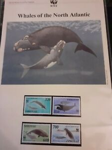 1990 FOROYAR WWF Stamps, First Day Covers & Max.Cards. ''WHALES Of N.ATLANTIC''