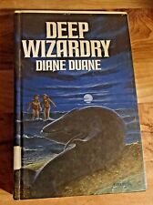 Deep Wizardry by Diane Duane (1985) hard cover. Ex lib book.