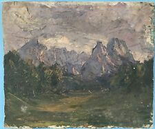 5v5:Impressionismus Alpen Ölgemälde Gewitter Alpen Dolomiten? Margarethe Hamm~25