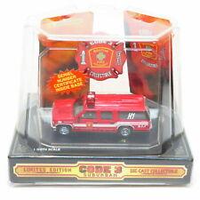 Code 3 1/64 - City of Boston No. H1 - GMC Suburban Van Fire Engine - Boxed